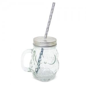 Stiklinis puodelis pelėda