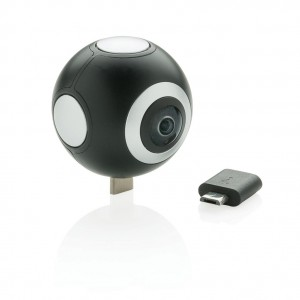 Dvigubo objektyvo 360 fotoaparatas