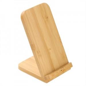 B'RIGHT bambuko belaidis įkroviklis 10W, telefono laikiklis