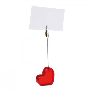 Širdies formos stalo segtukas