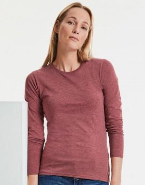 Moteriški aukštos raiškos T-marškinėliai ilogimis rankovėmis