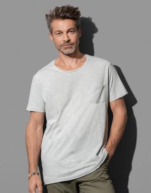 Vyriški marškinėliai su didele apvalia kaklo iškirpte