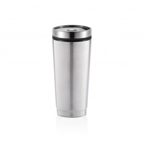 Leak proof puodelis, sidabro spalvos
