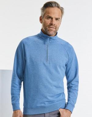 Vyriškas aukštos raiškos džemperis su ¼  užtrauktuku