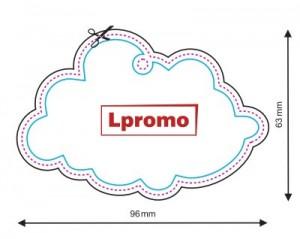 Automobilių kvapai su reklamine žinute, debesėlis
