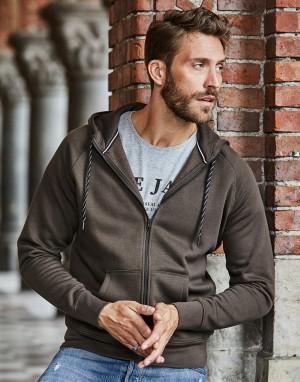Vyriškas stilingas džemperis su gobtuvu ir su viso ilgio užtrauktuku