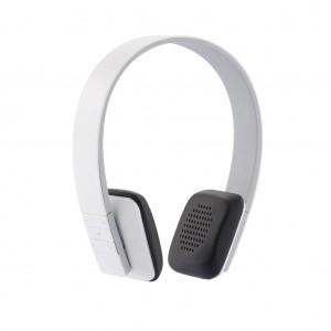 Stereo bevielės ausinės, baltos spalvos
