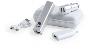 Verslo dovanos Tilmix (USB charger and power bank set)