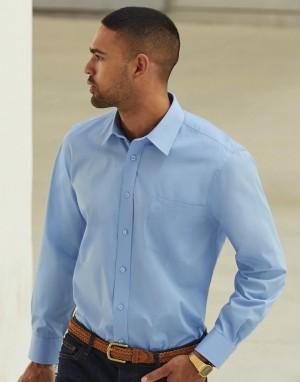 Vyriški poplino marškiniai ilgomis rankovėmis