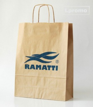Individuali spauda ant popierinių Kraft rudų maišelių, 300x340 mm