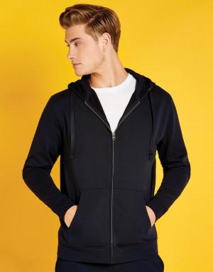 Vyriškas įprasto kirpimo džemperis su viso ilgio užtrauktuku (skalbiamas iki 60 laipsnių temperatūros)