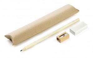 Rašymo priemonių rinkinys EKO (pieštukai, trintukas, drožtukas)