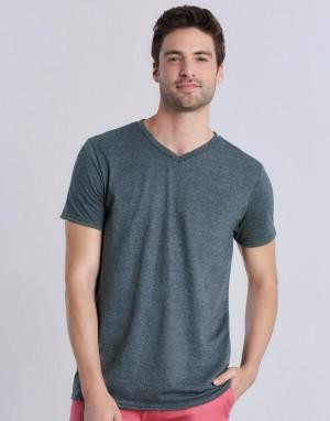 Vyriški marškinėliai su V formos kaklo iškirpte