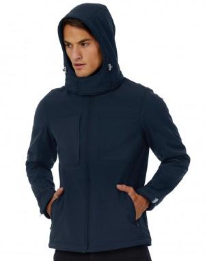 Vyriškas minkšto paviršiaus džemperis (striukė) su gobtuvu