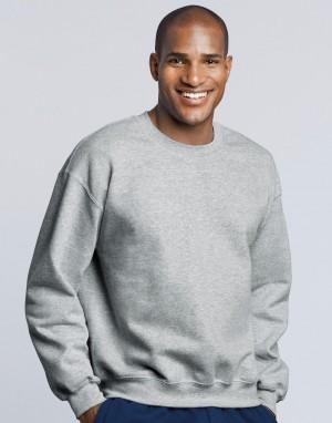 Greitai sugeriantis ir išgarinantis drėgmę džemperis su apvalia, prigludusia kaklo iškirpte