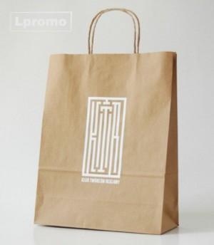 Popierinių maišelių gamyba. Kraft rudi, 500x390 mm