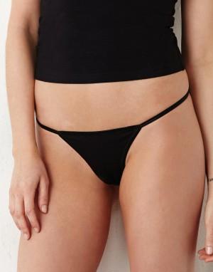 Moteriškas bikinis-diržas iš medvilnės ir elastano