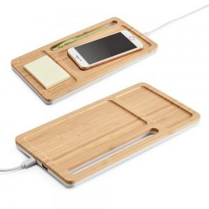 MOTT. Bambukinis stalo organaizeris su belaidžiu pakrovėju 5W
