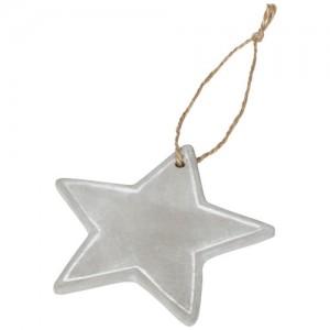 Sezoninis žvaigždės formos ornamentas-pakabutis