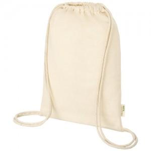 Orisos 100 g / m² organinės medvilnės maišelis su raišteliu