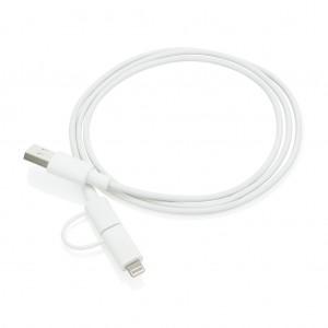2-in-1 kabelis MFI licencijuotas, baltas