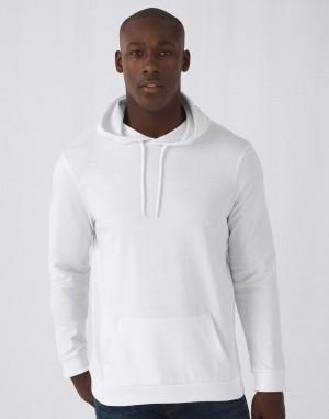 Universalus džemperis iš prancūziško kilpinio audinio su gobtuvu