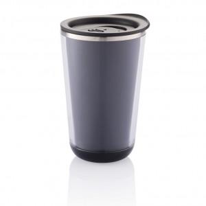 Dia kelionės puodelis, juodos spalvos