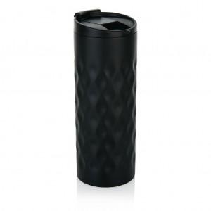 Geometrinis puodelis, juodos spalvos