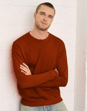 Universalus fliso džemperis nuleistais pečiais