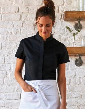 Womens Tailored Fit Mandarin Collar. Moteriški marškiniai