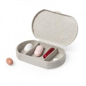 Bambuko tablečių dėžutė su 3 skyriais