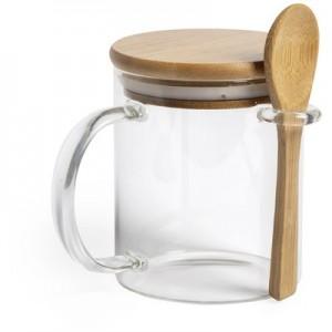 420 ml puodelis su šaukštu ir dangteliu