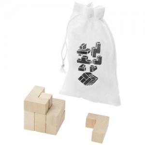 Solfee medinis kvadratų galvosūkis su maišeliu