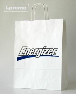 Popierinių maišelių gamyba. Kraft balti, 500x390 mm