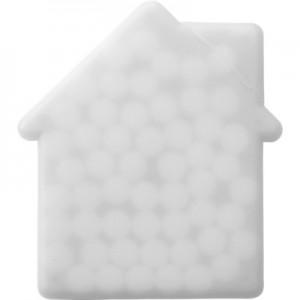 Mėtiniai saldainiai be cukraus namo formos dėžutėje