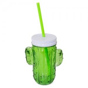 Stiklo puodelis kaktusas