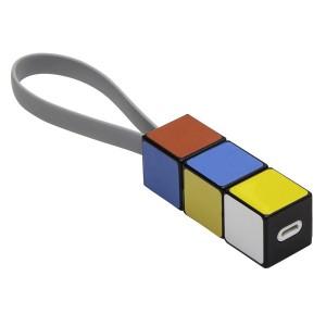 Spalvotas USB kabelis įkrovimui