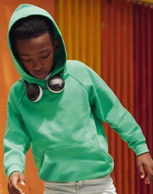 Vaikiškas lengvas džemperis su gobtuvu