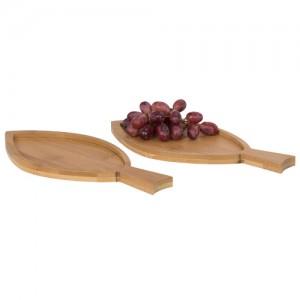 2-ių dalių žuvies formos bambukiniai padėkliukai