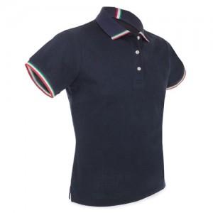 Polo Marškinėliai su  Italijos vėliavos juostele