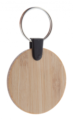 Verslo dovanos Bambry (bamboo keyring, round)