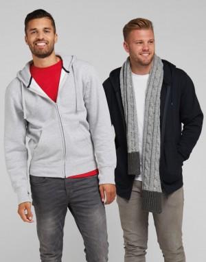 Vyriškas miesto džemperis su gobtuvu ir su viso ilgio užtrauktuku