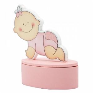 Dėžutė su kūdikio formos dangteliu