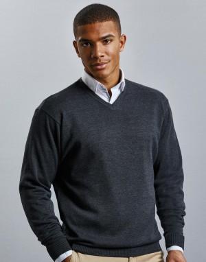 V-Neck Knitted Pullover. Vyriškas megztinis