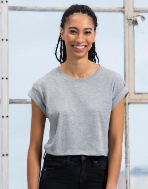 Moteriški patrumpinti marškinėliai