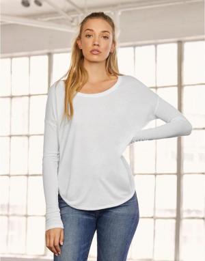 Moteriški atpalaiduoto, laisvo kritimo  marškinėliai su 2x1 rankovėmis