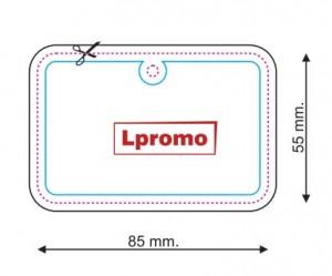 Automobiliniai kvapai su logo, stačiakampis