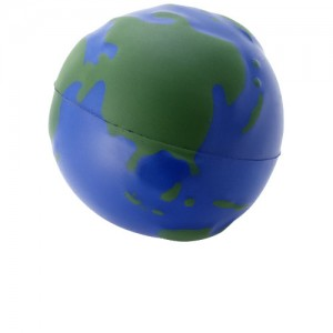 Globe žemės formos streso kamuoliukas