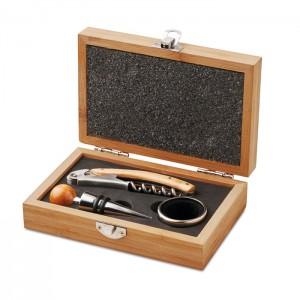 Vyno rinkinys su bambuko dėžutėje