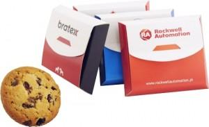 Reklaminiai sausainiai Fitness dėžutėje su Jūsų įmonės reklama ar logotipu